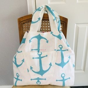 Anchor Symbol Large Beach Tote/Shoppers Handmade!